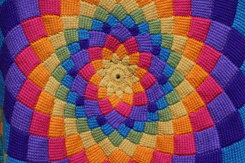 Sunny Daze Tunisian Crochet blanket